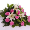Funeral bouquet of roses pink-thumbnail