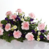 Funeral bouquet of carnations pink/blue-thumbnail