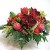 Low amaryllis Christmas bouquet -thumbnail