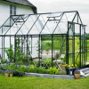 Greenhouse HALLS MAGNUM 9,9 M² with safety glass, green frame-thumbnail