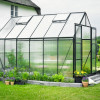 Greenhouse HALLS MAGNUM 9,9 M² with polycarbonate sheet, green frame-thumbnail