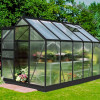 Greenhouse HALLS POPULAR 6,2 M² with polycarbonate sheet, black color-thumbnail