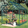 Greenhouse HALLS POPULAR 3,8 M² glass, green color-thumbnail