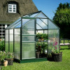 Greenhouse HALLS POPULAR 3.8 M² with polycarbonate sheet, green color-thumbnail