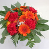 Low bouquet of gerberas and carnations-thumbnail