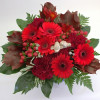 Red bouquet of gerberas and carnations-thumbnail