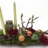Christmas candle arrangement with 2 candles-thumbnail