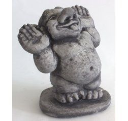 Grin face troll statue-thumbnail