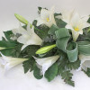 Funeral bouquet of white lilies-thumbnail