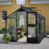 Greenhouse JULIANA COMPACT 5.0 M² with safety glass, antrasiitti/ black frame-thumbnail
