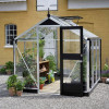 Greenhouse JULIANA COMPACT 5,0 M² with safety glass, aluminum / black frame-thumbnail