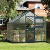 Greenhouse JULIANA JUNIOR 8.3 M² with polycarbonate sheets, anthracite grey-thumbnail