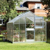 Greenhouse JULIANA JUNIOR 8.3 M² with polycarbonate sheets, aluminum frame-thumbnail