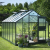 Greenhouse JULIANA JUNIOR 12.1 M² with polycarbonate sheets, anthracite grey-thumbnail