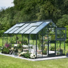 Greenhouse JULIANA JUNIOR 12.1 M² with safety glass, anthracite grey-thumbnail