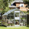 Greenhouse JULIANA JUNIOR 12,1 M² with safety glass, aluminium frame-thumbnail