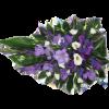 Drop-shaped Funeral bouquet blue-thumbnail