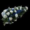 Funeral bouquet blue & white-thumbnail