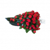 Funeral bouquet of red roses-thumbnail