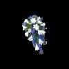 Blue & white funeral bouquet-thumbnail