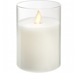LED Pillar Candle M-Twinkle valkoinen Tuotekuva