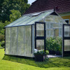 Greenhouse JULIANA PREMIUM 8.8 M² with 10 mm polycarbonate sheets, aluminium/black color-thumbnail
