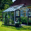 Greenhouse JULIANA PREMIUM 8.8 M² with safety glass, aluminum/black color-thumbnail