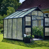 Greenhouse JULIANA PREMIUM 8.8 M² with 10 mm polycarbonate sheets, anthracite/black color-thumbnail