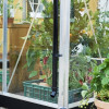 Greenhouse JULIANA COMPACT 5.0 M² with honeycomb cell plate, antrasiitti/ black frame-thumbnail